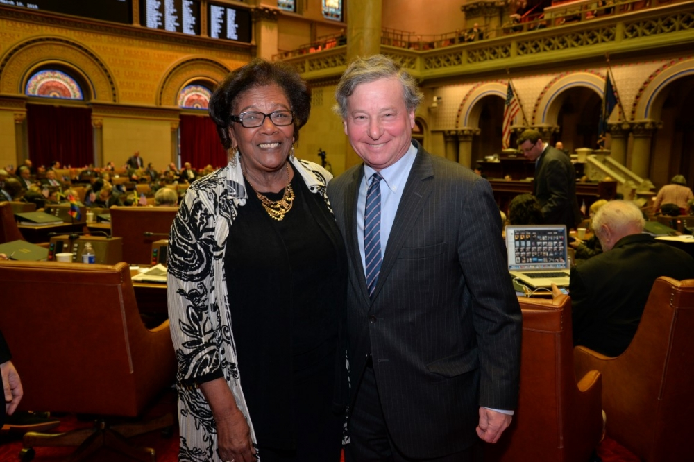 Assemblyman Otis congratulates Judith Johnson on her election to the NYS Board of Regents for Westchester, Rockland and Putnam Counties.