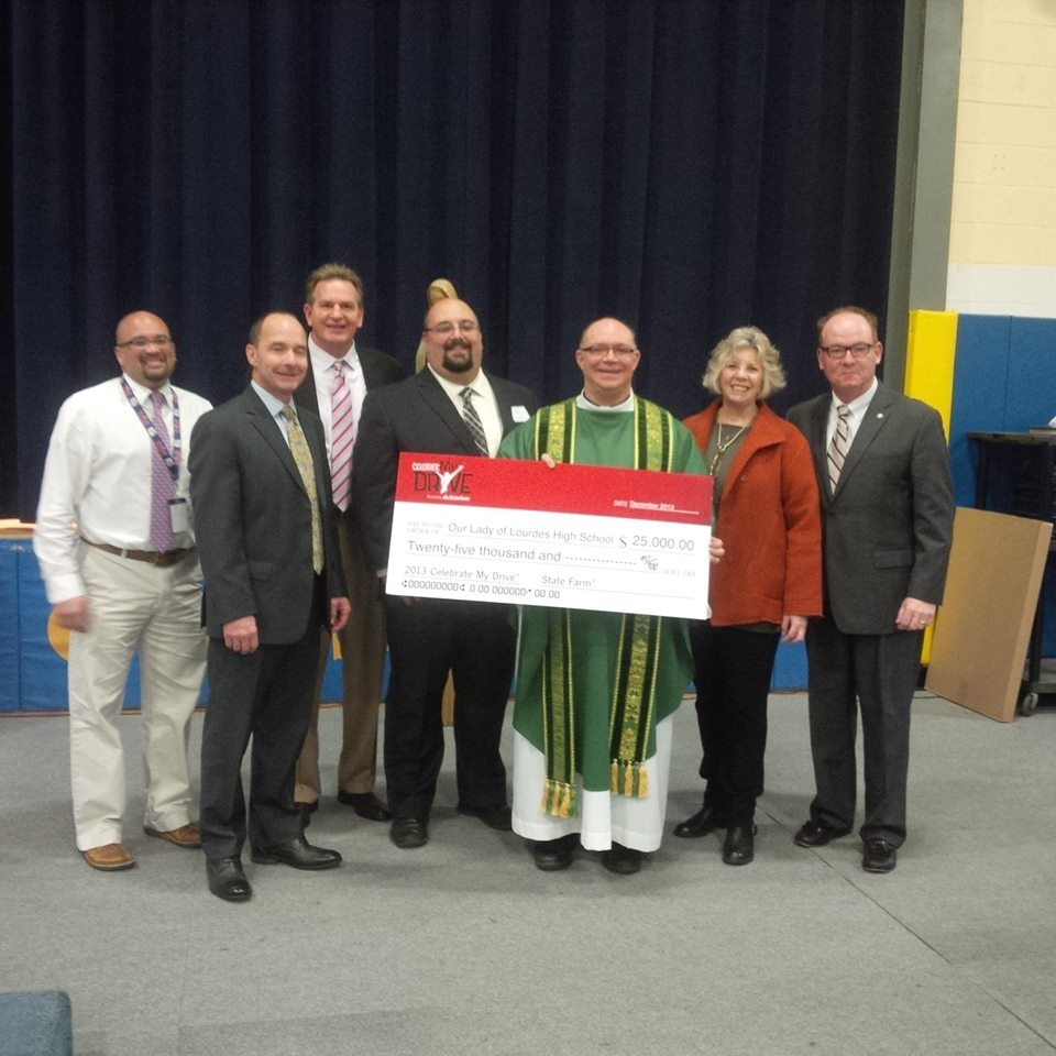 Congratulations to the students of Our Lady of Lourdes High School in Poughkeepsie for taking a stand against distracted driving! State Farm awarded the school $25,000 for their efforts in spreading a